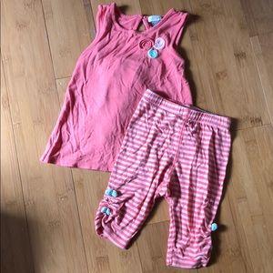 petit lem 2-pc tank & crop leggings set pink 18M